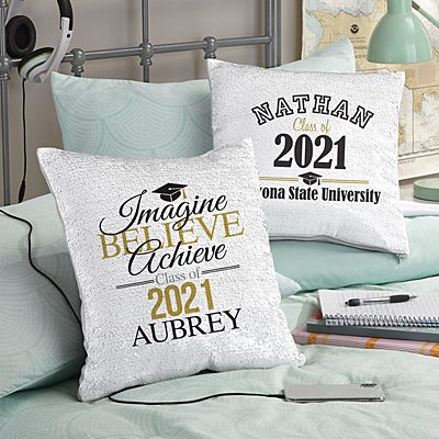 Best In Class Graduation Sequin Pillow