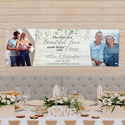 Beautiful Love Photo Anniversary Banner