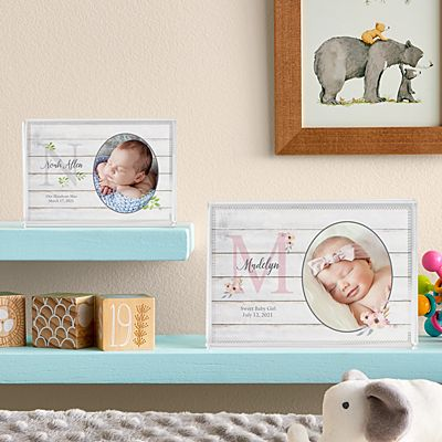 Elegant Baby Photo Glass Block