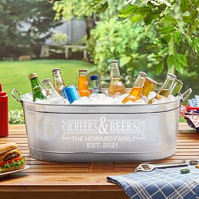 Cheers & Beers Beverage Tub