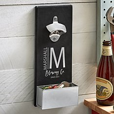 Modern Monogram Wall Bottle Opener
