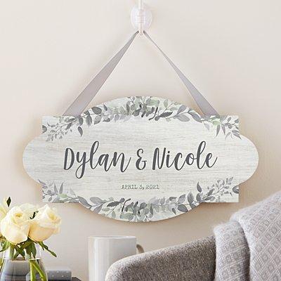 Simply Elegant Hanging Wood Sign