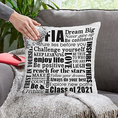 Dream Big Sequin Pillow