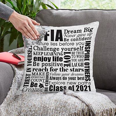 Dream Big Sequin Pillow