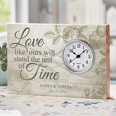 Test of Time Wedding Wood Clock