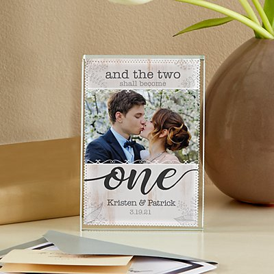 Two Shall Become One Photo Glass Block