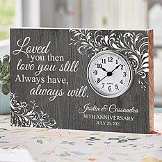 Love You Still Anniversary Wood Clock