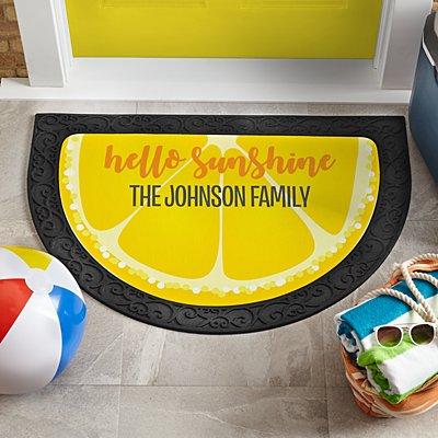 Fun Fruit Half Round Doormat