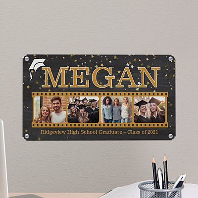 Graduate Photo Memory Reel Metal Sign