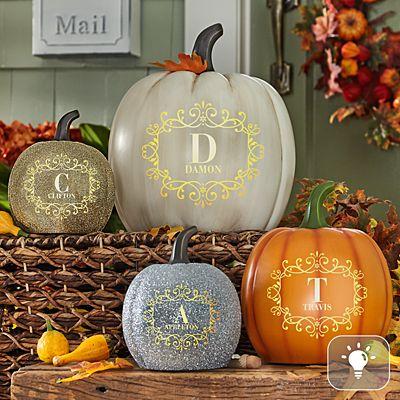 Light-Up Family Name Pumpkin