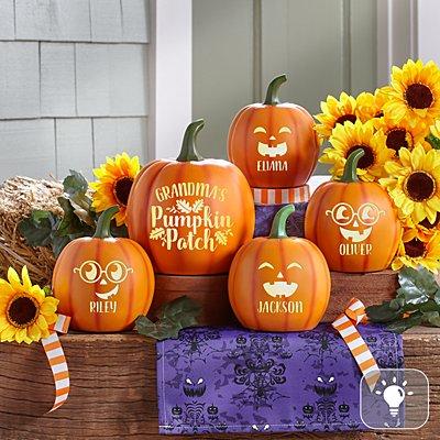Light-Up Little Pumpkin Patch Set