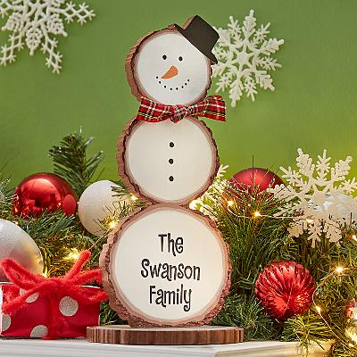 Winter Wishes Wooden Snowman