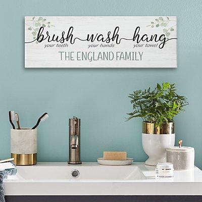 Brush, Wash, Hang Canvas