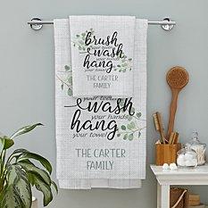 Brush, Wash, Hang Towels