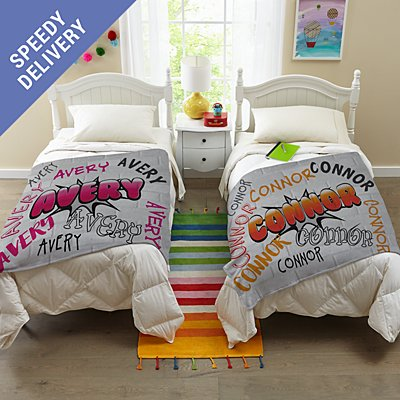 Graffiti Fun Plush Blanket