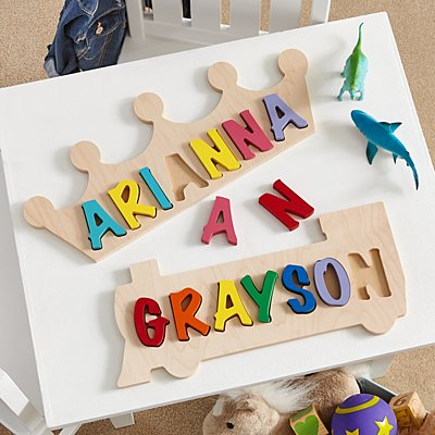 Shaped Name Puzzle