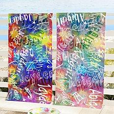 Paint Splatter Beach Towel