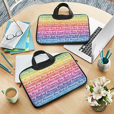 Rainbow Name Laptop Carrying Bag