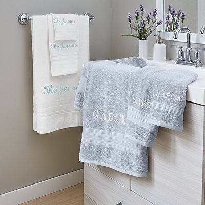 Embroidered Any Message Bath Towels