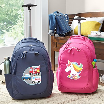 Fun Graphic Rolling Backpack