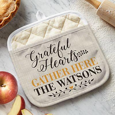 Grateful Hearts Pot Holder