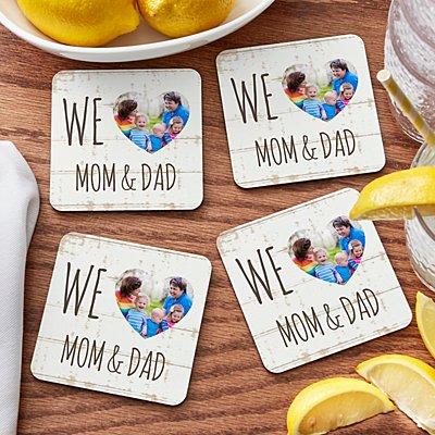 I/We Heart Photo Coasters
