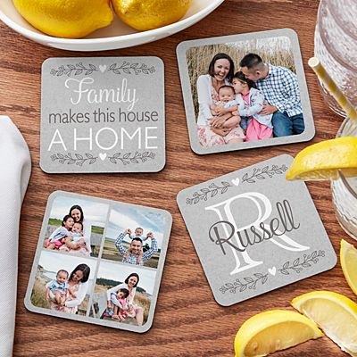 Photo Memory Collage Wood Coasters