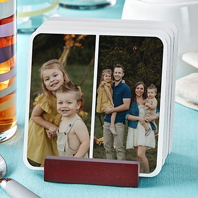 Photo Tile Wood Coaster