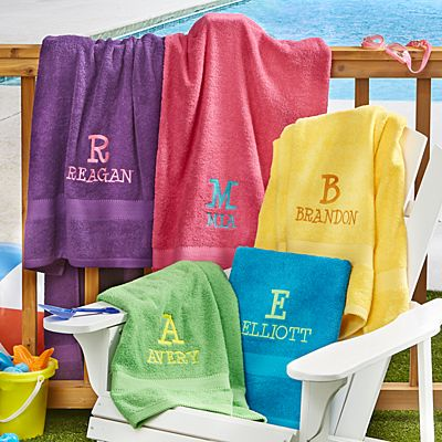 Playful Initial and Name Towels
