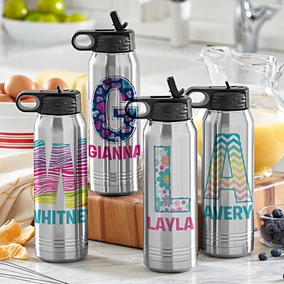 Pretty Pattern Stainless Steel Water Bottle