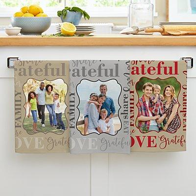 Words Of Love Photo Kitchen Towel