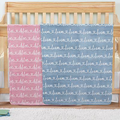 Written with Love Baby Blanket