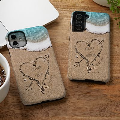Heart in Sand Phone Case