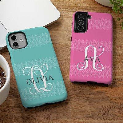 Initial with Name Phone Case