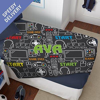 Top Gamer Plush Blanket