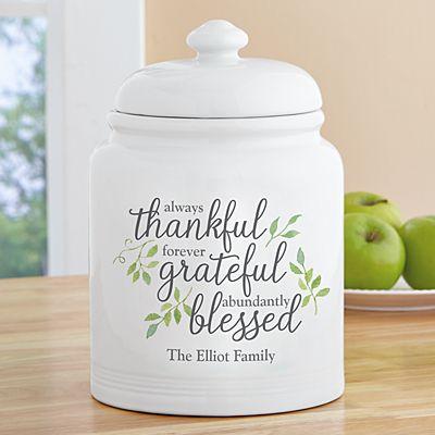 Always Thankful Cookie Jar