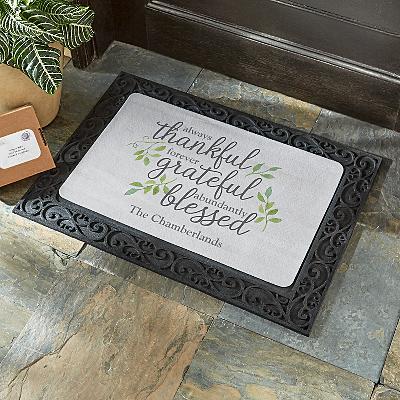 Always Thankful Doormat