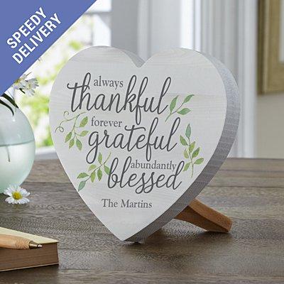 Always Thankful Mini Wood Heart