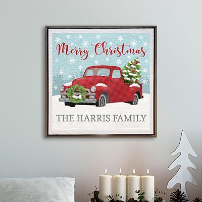 Classic Christmas  Shimmer Wood Wall Art