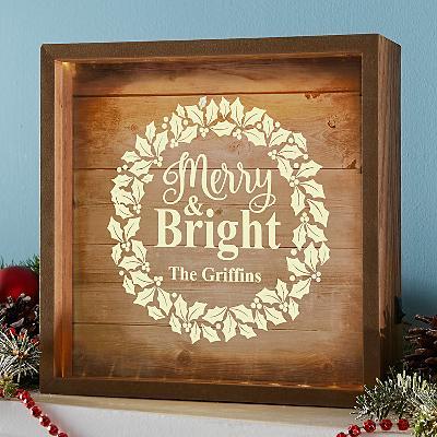 Merry & Bright Wreath Light Box