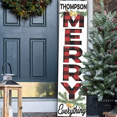 Merry Everything Porch Leaner Sign