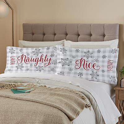 Naughty & Nice Pillow Cases