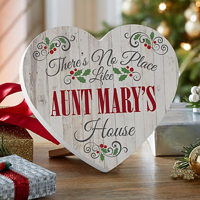 Our Favorite Place Holiday Mini Wood Heart