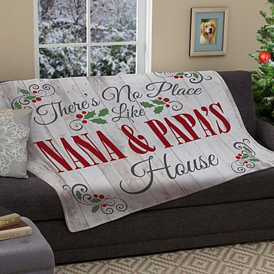 Our Favorite Place Holiday Plush Blanket