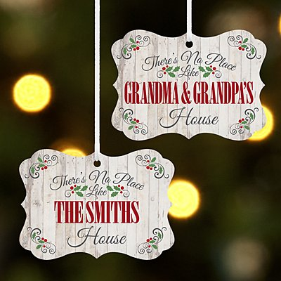 Our Favorite Place Holiday Scroll Ornament
