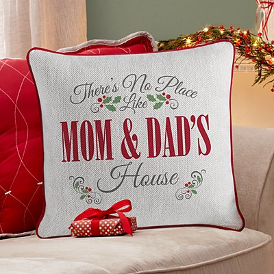 Our Favorite Place Holiday Throw Pillow