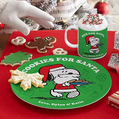 PEANUTS® Cookies for Santa Plate & Mug
