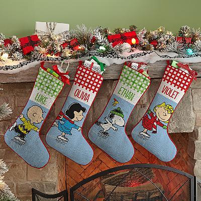 PEANUTS® Ice Skating Friends Stockings