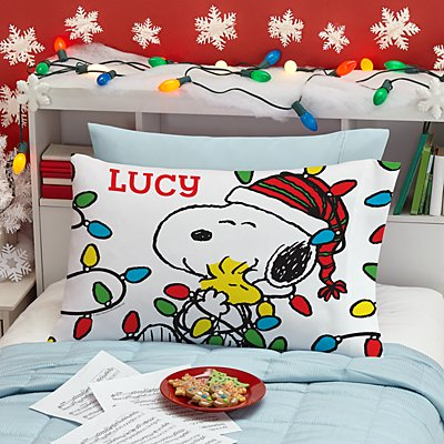 PEANUTS® Lots of Lights Pillowcase