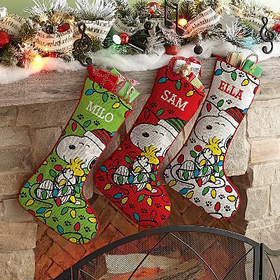 PEANUTS® Lots of Lights Stockings